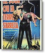 The Day The Earth Stood Still Vintage Poster Metal Print