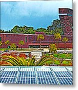 The De Young Fine Arts Museum From Roof Of California Academy Of Sciences In Golden Gate Park-ca Metal Print