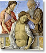 The Dead Christ Supported By Saints Metal Print