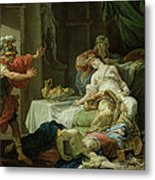 The Death Of Cleopatra, 1755 Oil On Canvas Metal Print