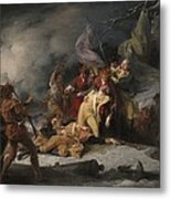 The Death Of General Montgomery In The Attack On Quebec, December 31, 1775, 1786 Oil On Canvas Metal Print