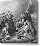 The Death Of General Wolfe, 1759, From The History Of The United States, Vol. I, By Charles Mackay Metal Print