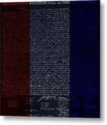 The Declaration Of Independence In Negative R W B Metal Print by Rob Hans