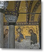 The Deesis Mosaic At Hagia Sophia Metal Print
