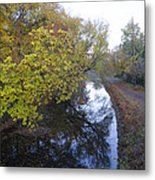 The Delaware Canal In Morrisville Pa Metal Print