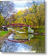The Delaware Canal Near New Hope Pa In Autumn Metal Print