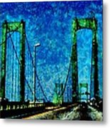 The Delaware Memorial Bridge Metal Print