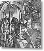 The Descent Of Christ Into Limbo Metal Print by Albrecht Duerer