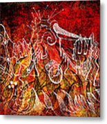 The Devil's Markings Illuminate The Fires Of Hell Metal Print