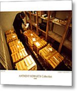 Anthony Howarth Collection - Gold- The Diligent Clerk Metal Print