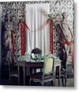 The Dining Room In James A. Beard's Home Metal Print