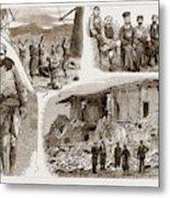The Disastrous Earthquake In Anatolia, Asia Minor Metal Print