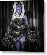The Diva Blue Metal Print