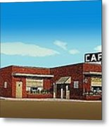The Dixie Cafe In Selmer Tn Around 1950 Metal Print
