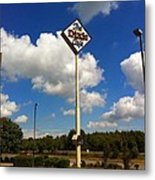 The Dixie Cafe Sign Metal Print
