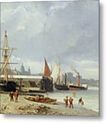The Docks On The Bank At Greenwich  Metal Print