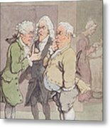 The Doctors Consultation, 1815-1820 Pen And Ink And Wc Over Graphite On Paper Metal Print