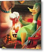 The Dog & Duck Metal Print