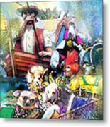 The Dogs Parade In New Orleans Metal Print