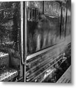 The Door Of Steam Train Metal Print