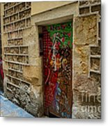 The Door And The Wonderful Wall Metal Print
