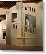 The Double-helix Staircase Chateau Chambord - France Metal Print