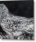 The Dove - Oil Portrait Metal Print