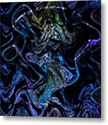 The Dragon Behind The Mask  Metal Print