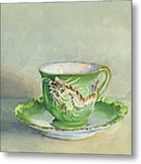 The Dragon Teacup Metal Print