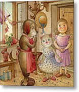 The Dream Cat 19 Metal Print by Kestutis Kasparavicius