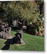 The Dreamer Sculpture In Palm Desert Metal Print