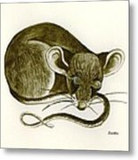 The Dreaming Mouse Metal Print