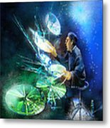 The Drummer 01 Metal Print