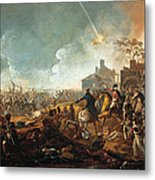 The Duke Of Wellington At La Haye Sainte. The Battle Of Waterloo Metal Print