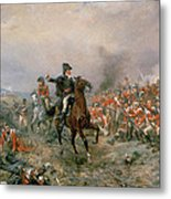 The Duke Of Wellington At Waterloo Metal Print