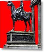 The Duke Of Wellington Red Metal Print