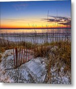 The Dunes At Sunset Metal Print by Debra and Dave Vanderlaan