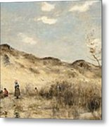 The Dunes Of Dunkirk Metal Print by Jean Baptiste Camille Corot