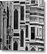The Duomo Black And White Metal Print