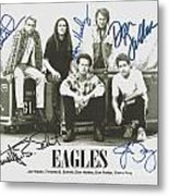 The Eagles Autographed Metal Print