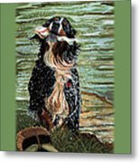 The Early Berner Catcheth Phone Metal Print
