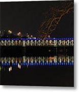 The East Falls Bridge At Night - Philadelphia Metal Print