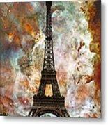 The Eiffel Tower - Paris France Art By Sharon Cummings Metal Print by Sharon Cummings