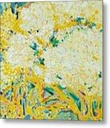 The Elderflower Tree Oil On Canvas Metal Print