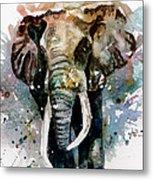 The Elephant Metal Print by Steven Ponsford