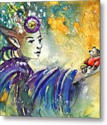 The Elf And The Little Bear Metal Print