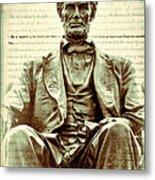 The  Emancipation Proclamation And Abraham Lincoln Metal Print
