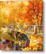 The Embassay Of Autumn - Palette Knife Oil Painting On Canvas By Leonid Afremov Metal Print