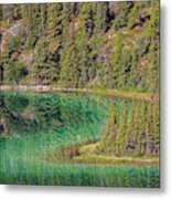 The Emerald Green Waters Of Emerald Metal Print