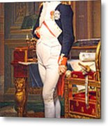 The Emperor Napoleon In His Study At The Tuileries By Jacques Louis David Metal Print